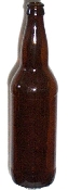 22 oz. Amber Beer Bottles (case of 12)