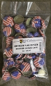 American Flag Bottle Caps W/Oxygen Barrier (144)