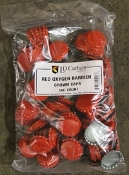 Red Bottle Caps W/Oxygen Barrier (144)