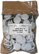 White Bottle Caps W/Oxygen Barrier (144)